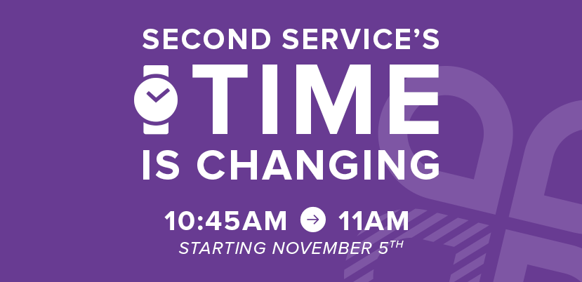 Crossroads Church - Second Service Time Change