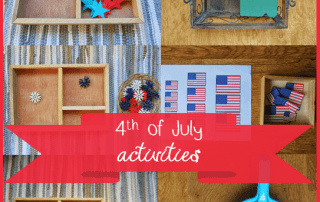 Montessori inspired 4th of July activities for kids #montessori #montessoriactivities