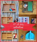 Montessori inspired 4th of July activities