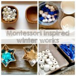 Winter Activities for Kids: January practical life/fine motor trays