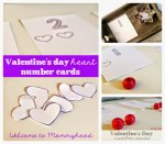 Valentine's Day Activities: Number Cards