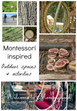 Montessori outdoor spaces and activities