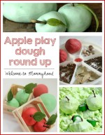 Apple themed play dough round up