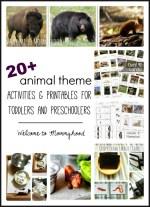 20+ Montessori inspired animal activities and printables