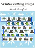 Free Printables: Winter cutting strips