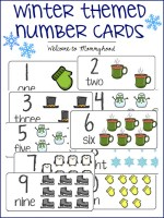 Free Winter Number Cards