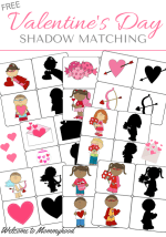 Valentine's Day Shadow Matching Cards