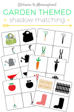 Free printable: Gardening themed shadow matching