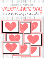 Valentine's Day Salt Tray Tutorial and Printables