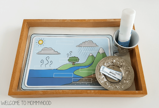 Water cycle for kids: montessori activities #montessoriactivtiesWater cycle for kids: montessori activities #montessoriactivties