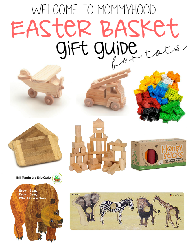 Easter basket gift guide for toddlers by Welcome to Mommyhood #giftguide, #montessorihome