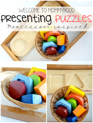 Presenting puzzles to toddlers #montessori