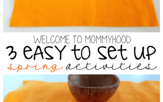 3 easy to set up Montessori activities for toddlers #montessori