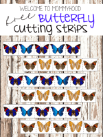 Free butterfly cutting strips