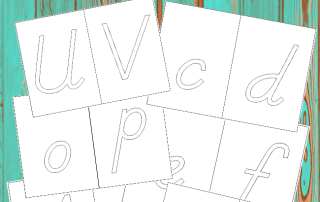 DIY Sandpaper Letters Printable #montessori