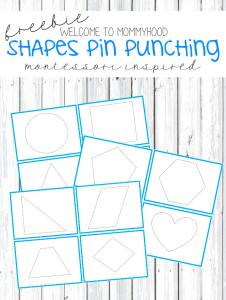 Montessori Shapes pin punching