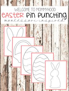 Easter activities for preschoolers - pin punching printables #montessoriactivities, #easteractivities