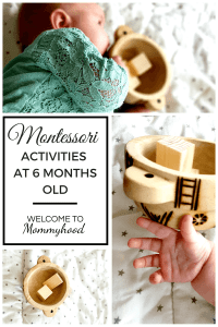 Montessori activities for babies - exploring senses