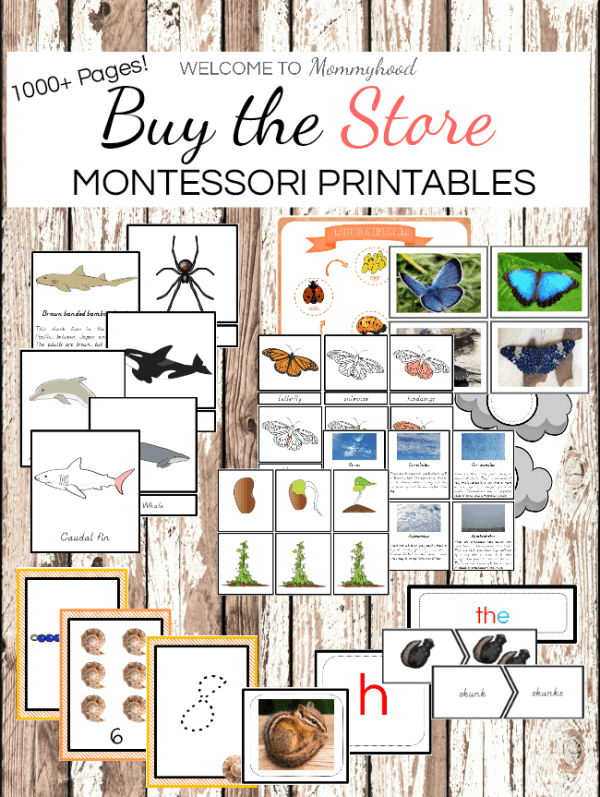 Growing Montessori Printables Bundle for Montessori Activities