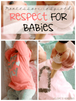 Montessori for Infants: Respecting our babies