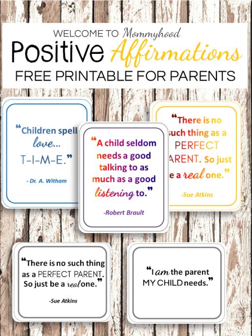 positive affirmations for parents