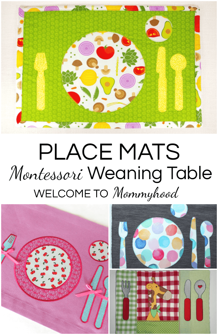 Montessori Placemats Are A Great Way To Foster Independence And Teach Children How Set The