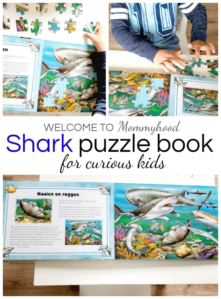 Montessori Books for Kids: puzzle books #montessoriactivities #sharkactivities