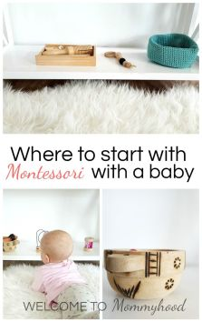 Montessori for Infants: Where to start with Montessori for your baby #montessoriinfants #Montessorifrombirth #montessoribaby