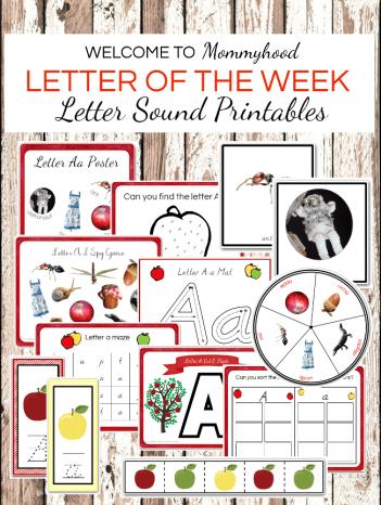 Letter of the Week Printables for Preschoolers: Letter Sound Printables #letteroftheweek #lettersoundactivities