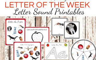 Letter of the Week Printables for Preschoolers: Letter Sound Printables #letteroftheweek #lettersoundactivities