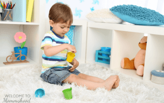 Declutter your toys: a Montessori play space series