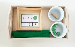 Free St Patrick's Day Addition Clip Cards