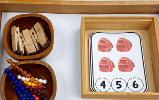 Use these Back to School Number Clip Cards to create hands-on activities your students will love! Perfect for math centers or for a Montessori classroom. #montessori #mathcenters #backtoschool