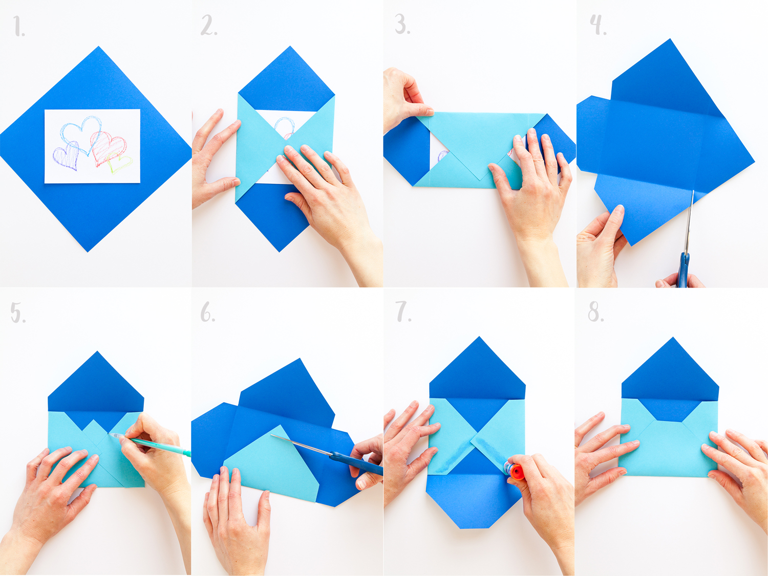 Papier Brief Falten Handmade Envelopes 3 Ways Welcome To Nana 39s