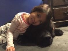 Nat loves her Louie