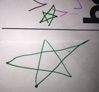Natalie just learned to draw stars