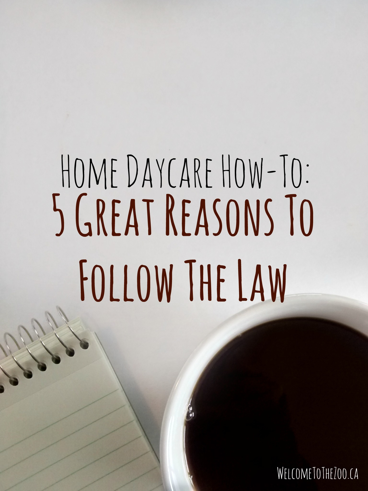 home daycare why should I follow ratios