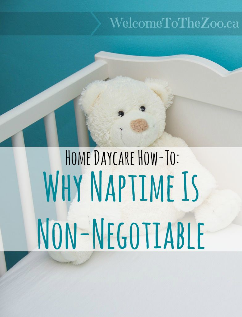 Home Daycare How-To: Why Naptime is Non-Negotiable