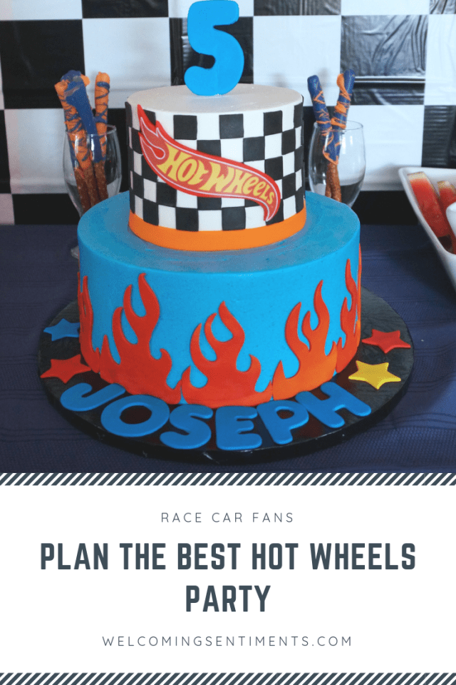 hot wheels race car party cake