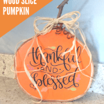 Fall Wood Slice pumpkin