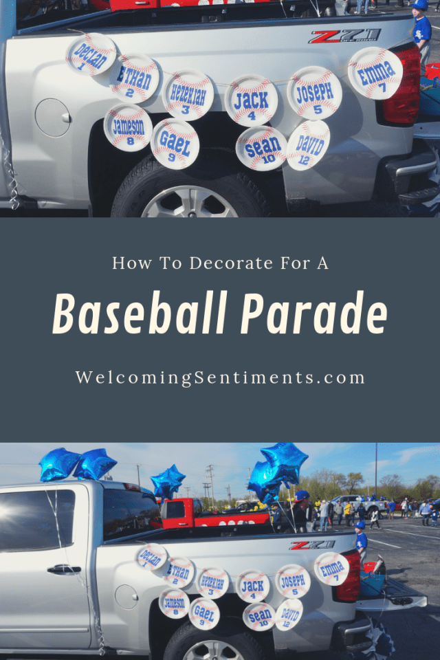 baseball parade decorations