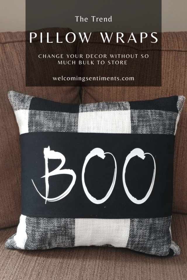 Boo custom pillow wrap, personalized pillow cover home decor