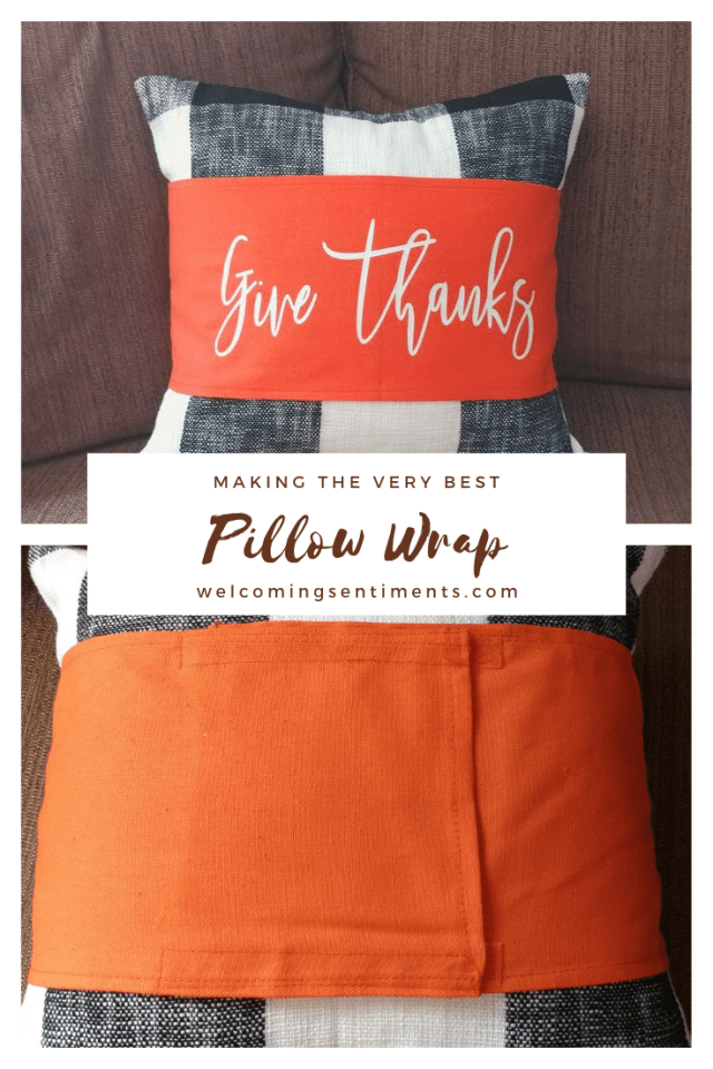 Give Thanks custom pillow wrap, personalized pillow cover home decor