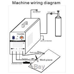TIG 220V DC Schweißer Inverter 200Amp Argon Gas WIG & ARC