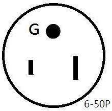 Parkworld 885330 Welder 50A plug 3-Prong NEMA 6-50