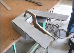 Clamp the boxing plate to the folded plate.