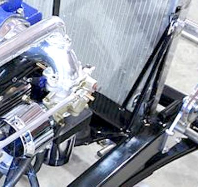Strut rod brackets used as biscuit type motor mounts