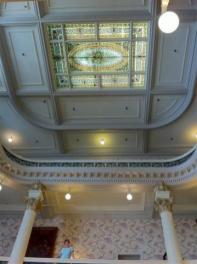 Victorian lobby of the Menger.