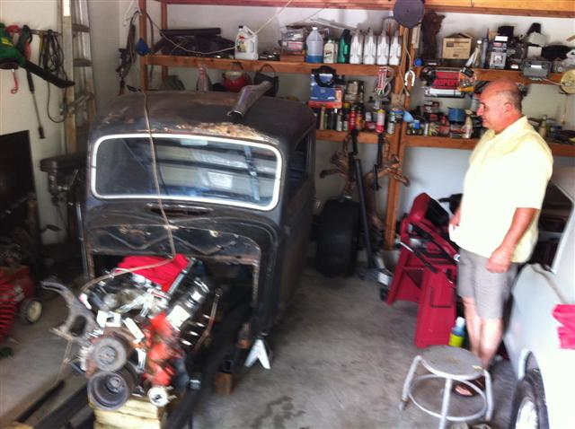 Fred's 36 Ford pick-up project.