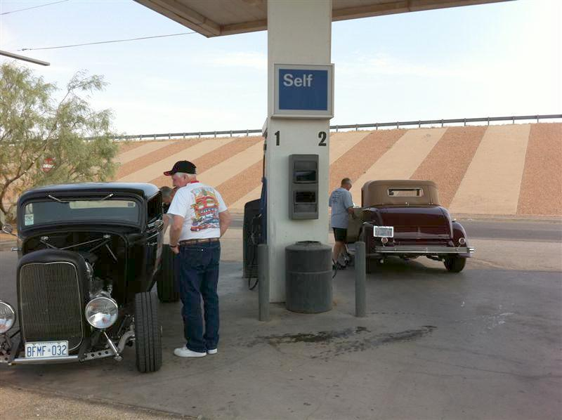 Gassing up at Van Horn.